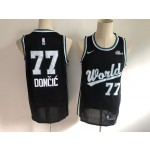 NBA World Team #77 Luka Doncic Nike 2019 Rising Star Swingman
