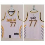 NBA Mavericks #77 Luka Doncic White 2020-21 City Edition Nike Swingman Jersey