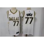 NBA Dallas Mavericks #77 Luka Doncic White 2021 City Edition Nike Swingman Jersey