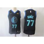 Youth Dallas Mavericks #77 Luka Doncic Black City Edition Nike Swingman Jersey