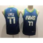 Youth Dallas Mavericks #77 Luka Doncic Light Blue 2020 City Edition Nike Swingman Jersey