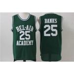 NBA Bel-Air Academy #25 Carlton Banks Green Jersey