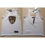 NBA Brooklyn Nets #7 Kevin Durant White Gold Nike Swingman Jersey
