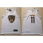 NBA Brooklyn Nets #11 Kyrie Irving White Gold Nike Swingman Jersey