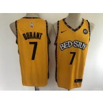 NBA Brooklyn Nets #7 Kevin Durant Yellow BED-STUY 2020 Nike Jersey