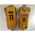 NBA Brooklyn Nets #11 Kyrie Irving Yellow BED-STUY 2020 Nike Jersey