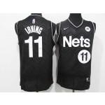 Men's Brooklyn Nets #11 Kyrie Irving Black 2021 Swingman Nike Jersey