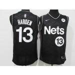 Men's Brooklyn Nets #13 James Harden Black 2021 Swingman Nike Jersey