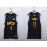 Men's Brooklyn Nets #11 Kyrie Irving Black 2020-21 Fashion NBA Jersey