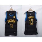 Men's Brooklyn Nets #13 James Harden Black 2020-21 Fashion NBA Jersey