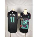 Men's Brooklyn Nets #11 Irving Black dragon Nike 2021 Nike NBA Jersey