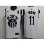 Nets #11 Kyrie Irving White 2020-2021 City Edition Nike Swingman Jersey