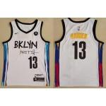 NBA Brooklyn Nets #13 James Harden White 2021 Nike Swingman Jersey