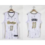 Nets #11 Kyrie Irving White 2020-2021 Christmas Nike Swingman Jersey