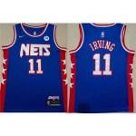 Brooklyn Nets #11 Kyrie Irving Blue Classic Edition Swingman Jersey