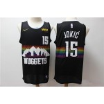 NBA Denver Nuggets #15 Nikola Jokic Black 2019-20 City Edition Nike Swingman Jersey