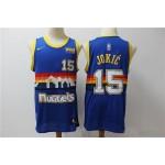 NBA Denver Nuggets #15 Nikola Jokic Blue Nike Swingman Jersey