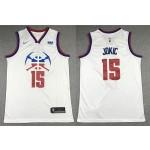 NBA Denver Nuggets #15 Nikola Jokic White 2020-21 Earned Edition Swingman Jersey