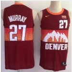 Men's Denver Nuggets #27 Jamal Murray Red 2021 City Edition NBA Swingman Jersey