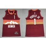 Men's Denver Nuggets #1 Michael Porter Jr. Red 2021 City Edition NBA Swingman Jersey