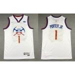 NBA Denver Nuggets #1 Michael Porter Jr. White 2020-21 Earned Edition Swingman Jersey