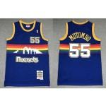 NBA Nuggets #55 Dikembe Mutombo Blue 1991-92 Hardwood Classics Swingman Jersey