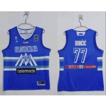 Slovenia Basketball 2020 Summer Olympics #77 Luka Doncic Blue Player Nike Jersey