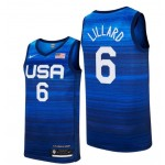 USA Basketball 2020 Summer Olympics #6 Damian Lillard Blue Player Nike Jersey