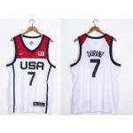 USA Basketball 2020 Summer Olympics #7 Kevin Durant White Player Nike Jersey