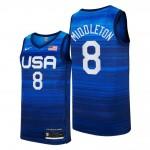 USA Basketball 2020 Summer Olympics #8 Khris Middleton Blue Player Nike Jersey