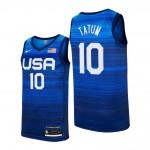 USA Basketball 2020 Summer Olympics #10 Jayson Tatum Blue Player Nike Jersey