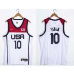 USA Basketball 2020 Summer Olympics #10 Jayson Tatum White Player Nike Jersey