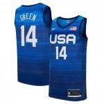 USA Basketball 2020 Summer Olympics #14 Draymond Green Blue Player Nike Jersey