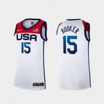USA Basketball 2020 Summer Olympics #15 Devin Booker White Player Nike Jersey