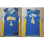 NBA Indiana Pacers #4 Victor Oladipo Blue 2020-21 City Edition Swingman Jersey