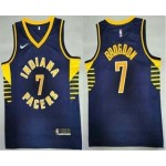 Men's Indiana Pacers #7 Malcolm Brogdon New Navy Blue 2021 Nike Swingman Stitched NBA Jersey