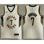 Men's Indiana Pacers #7 Malcolm Brogdon New White 2021 Nike Swingman Stitched NBA Jersey
