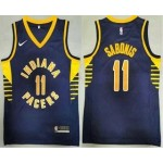 Men's Indiana Pacers #11 Domantas Sabonis New Navy Blue 2021 Nike Swingman Stitched NBA Jersey