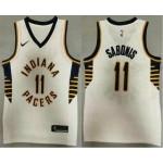 Men's Indiana Pacers #11 Domantas Sabonis New White 2021 Nike Swingman Stitched NBA Jersey