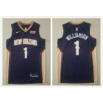 NBA New Orleans Pelicans #1 Zion Williamson Navy Blue Nike New Jersey