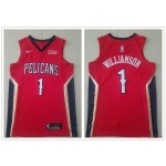 NBA New Orleans Pelicans #1 Zion Williamson Red Nike New Jersey
