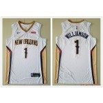 NBA New Orleans Pelicans #1 Zion Williamson White Nike New Jersey