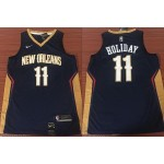NBA New Orleans Pelicans #11 Jrue Holiday Navy Blue Nike Jersey