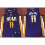 NBA New Orleans Pelicans #11 Jrue Holiday Purple Nike Jersey