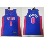 NBA Detroit Pistons #0 Andre Drummond Blue Nike Jersey