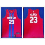 NBA Detroit Pistons #23 Blake Griffin Red City Edition Nike Jersey