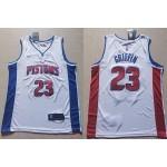 NBA Detroit Pistons #23 Blake Griffin White Nike Jersey