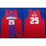 NBA Detroit Pistons #23 Derrick Rose Red City Edition Nike Jersey