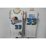 NBA Detroit Pistons Grant Hill #33 White Throwback jersey