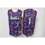 NBA Raptors #1 Tracy McGrady Purple Tear Up Pack Swingman Jersey